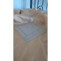 Cachepot Vasinho Quadrado Baixo Vidro Colado