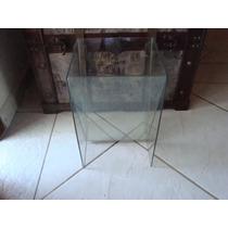 Vaso De Vidro Decorativo - Quadrado - Translúcido