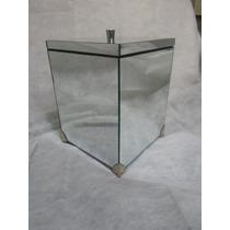 Lixeira Espelhada P/ Banheiro Ou Lavabo 21x21x27cm