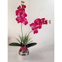 Arranjo De Orquídeas Com Dois Galhos, Artificial Na Canoa