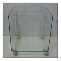 Vaso / Cachepot De Vidro 35x35x35 Cm - 5mm