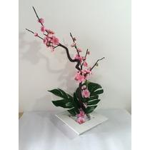 Arranjo De Flores Artificiais Com Flor De Cerejeira Rosa