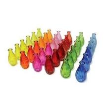 Vaso Garrafa Decorativo De Vidro Colorid Decoração Festa