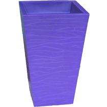Vaso Trapézio Rústico Para Plantar Cor Lilás Bg1-008