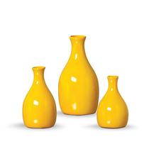 Vasos Amarelos Para Decorar Sala De Estar Cód Ma2647