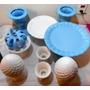 0333 Lote Para Festas De Vaso E Boleiras Em Azul E Branco