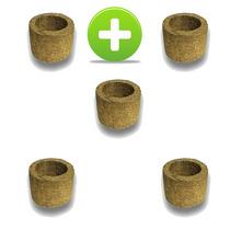5 Vasos Xaxim De Palmeira T1 Para Orquídeas E Samambaias
