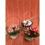Vaso Com Flores Artificiais Para Decoração.
