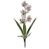Orquidea Artificial X5 Branca 54 Cm