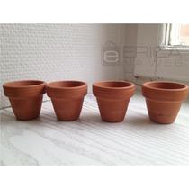 4 Vaso De Barro Tamanho 11x12 Unid Artesanato Plantas