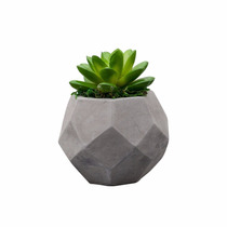 Vaso De Cimento C/ Cactos De Plástico 10.5cm Lyor 3606