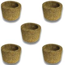 5 Vasos Xaxim De Palmeira T3 Para Orquídeas E Samambaias