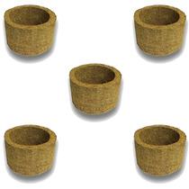 5 Vasos Xaxim De Palmeira T2 Para Orquídeas E Samambaias