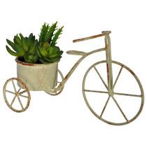 Suculenta Artificial+vaso Bicicleta Plantas Para Decoração