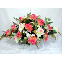 Arranjo Floral - Flores Artificiais De Seda - Dia Das Mães