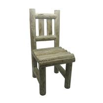 Cadeira Porta Vaso Rústica Média Em Madeira