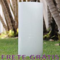Vaso / Tubo De Vidro Brilhante Branco Home 40cm - Bu122