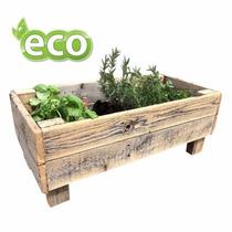 Eco Vaso Para Horta Ou Jardim Madeira Rústica - Frete Grátis