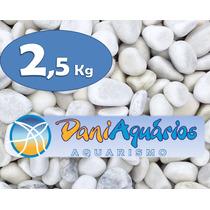 2,5 Kg Pedras Para Jardins, Seixo Branco, Decoração Em Vasos