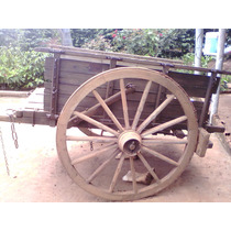 Carroça Roda De Ferro Antiga Mais De 80 Anos