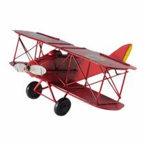 Miniatura Avião Artesanal Em Lata Estilo Antigo