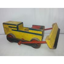 Brinquedo Madeira Antigo Trator
