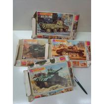 04 Caixas Dos Tanques De Guerra Matchbox - Diorama