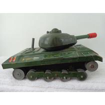 Brinquedo Antigo Lata Tanque De Guerra Militar Tn Japan