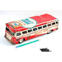 Brinquedo Antigo Onibus De Lata E Ferro Bate-volta