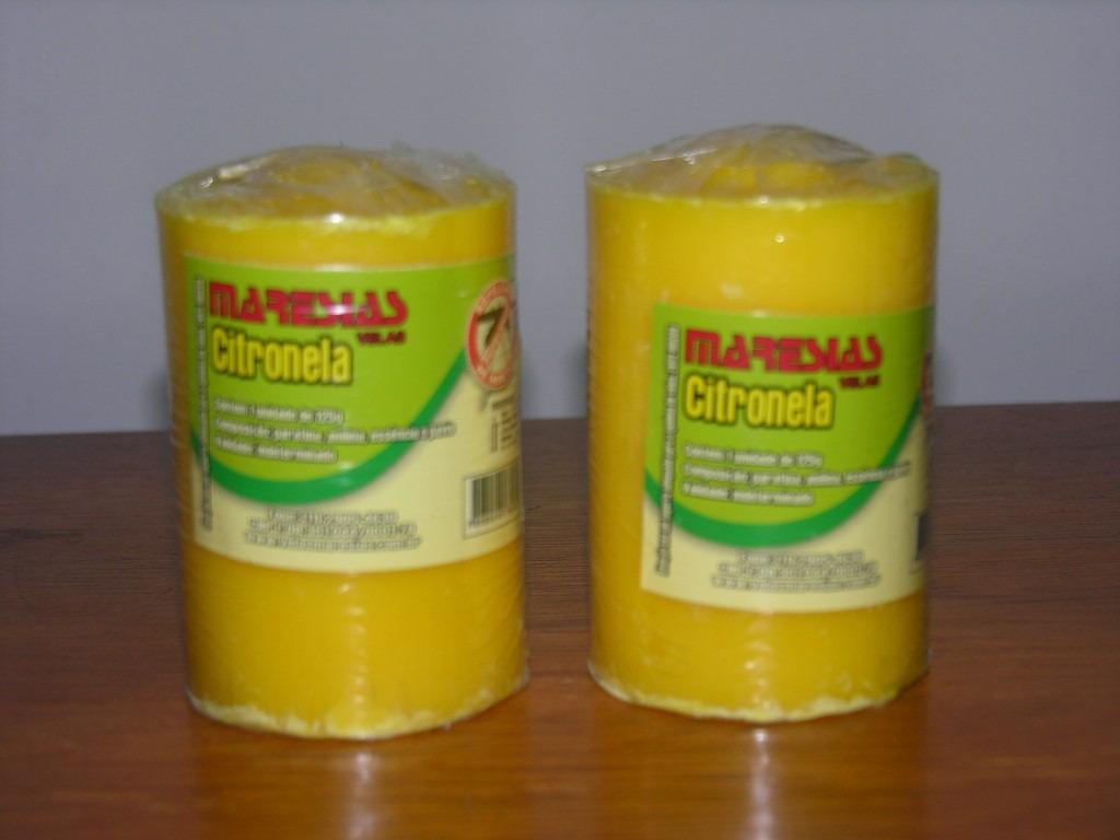 vela de citronela repelente mosquito com 2 unidades r