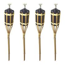 Kit 4 Lamparina Tocha De Fogo Bambu 90cm Decoração Festa