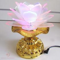Flor De Lótus C/ Luzes E Música Oriental Relaxamento Bivolt