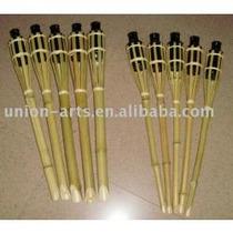 Tocha Tipo Lamparina Em Bambu Natural, ( Importada ) 90cm