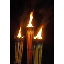 Tocha Tipo Lamparina Em Bambu Natural, ( Importada ) 104cm