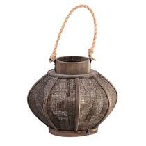 Luminária / Lanterna Rústica - Porta Vela Decorativo Em Vime