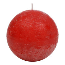 Vela Bola Vermelha Grande - 40 Horas - Em Parafina