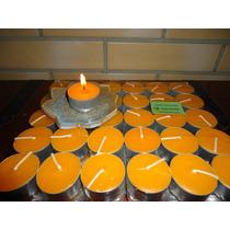 36 Velas De Citronela Duração 5hs Cada + 6 Rechaud Alumínio