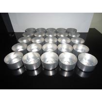 Vaso Alumínio Para Velas Lamparina Recháud (50 Unidades)