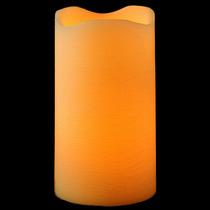 Vela De Led Pilar Extra Grande Em Parafina - 30cm De Altura