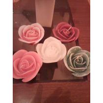Vela Rosa Americana Grande Para Piscina -kit Com 5 Unidades