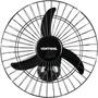 Ventilador De Parede Oscilante 50cm Bivolt Aço Preto Ventis