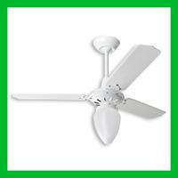 Ventilador De Teto Pêra Branco C/ Lustre Lorensid 110v