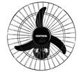 Ventilador De Parede Oscilante 60 Cm Silencioso Preto