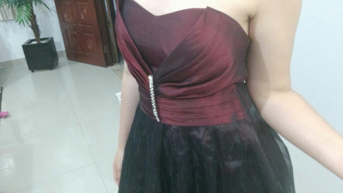 Vestido De Festa Vinho