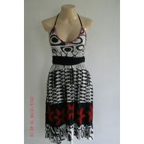 Lindo Vestido Em Viscose - Think Tam; P R$ 40,00