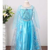 Fantasia Vestido Frozen Ana Elsa Frete Gratis No Brasil