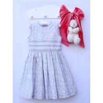 Vestido Infantil Casual Tam 02 Algodão, Com Forro De Algodão