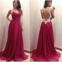 Vestido Renda Elastano Festa Madrinha Casamento