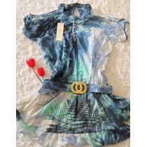Chemise Azul Vestido Mondabelle Tam G