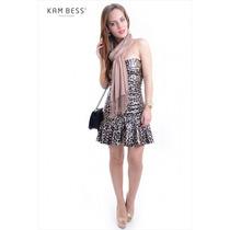 Vestido De Courino De Onça - Kam Bess - Ve0181